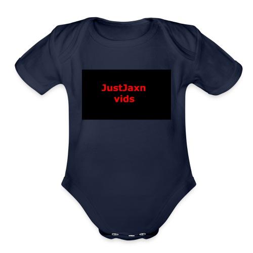 JustJaxn vids Hoodie - Organic Short Sleeve Baby Bodysuit