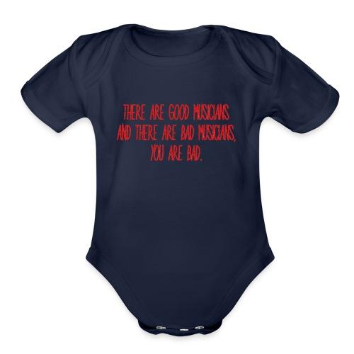GOOD & BAD MUSICIANS - Organic Short Sleeve Baby Bodysuit