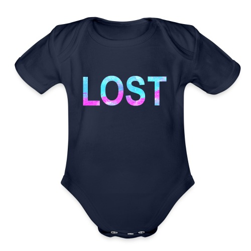 lost - Organic Short Sleeve Baby Bodysuit