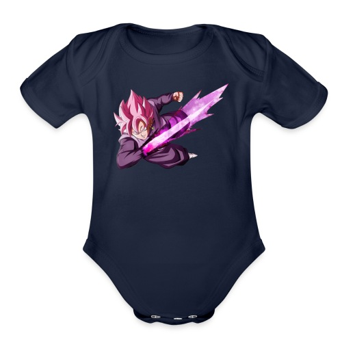 black goku ssj rose - Organic Short Sleeve Baby Bodysuit