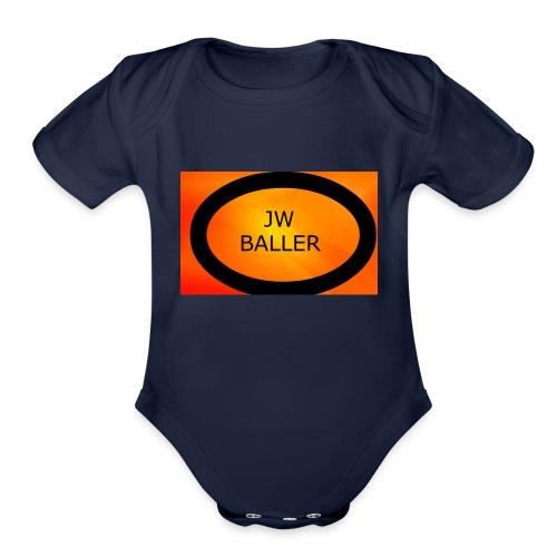 jw baller merch - Organic Short Sleeve Baby Bodysuit
