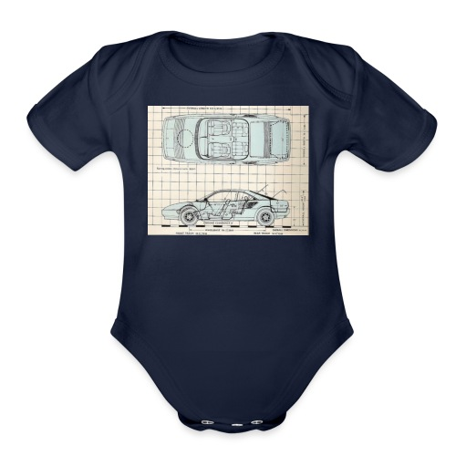 drawings - Organic Short Sleeve Baby Bodysuit