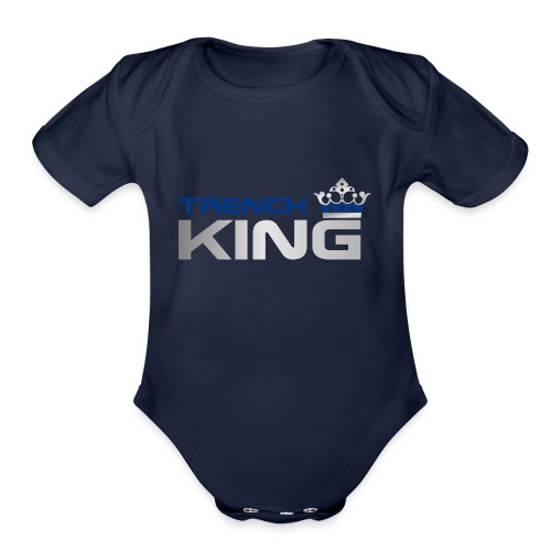 Trench King - Organic Short Sleeve Baby Bodysuit