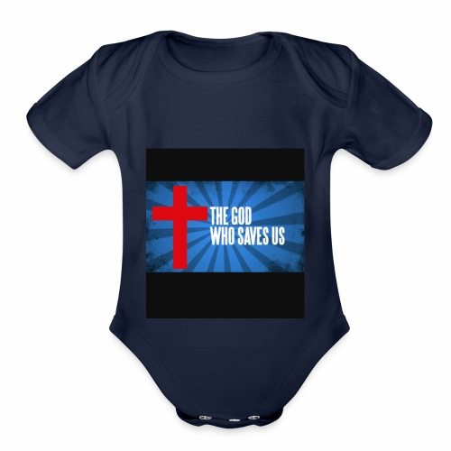Because i am helping my church and my family - Organic Short Sleeve Baby Bodysuit
