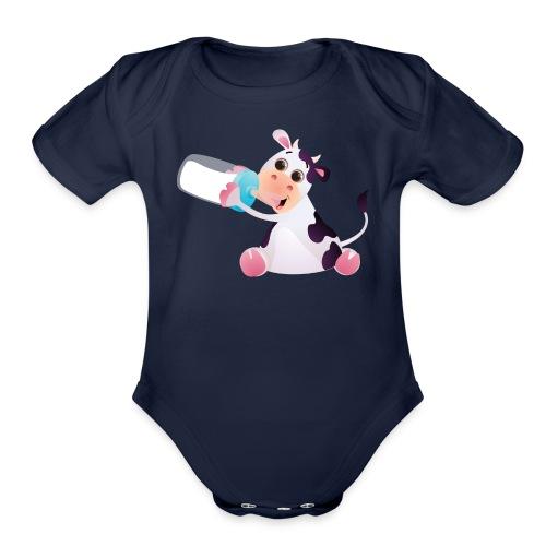baby calf - Organic Short Sleeve Baby Bodysuit