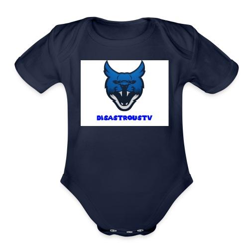 DisastrousTv MERCH - Organic Short Sleeve Baby Bodysuit