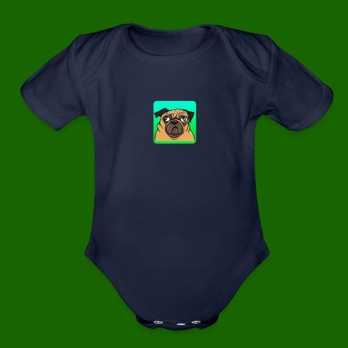 TheBratPug TEAM PLAYER - Organic Short Sleeve Baby Bodysuit