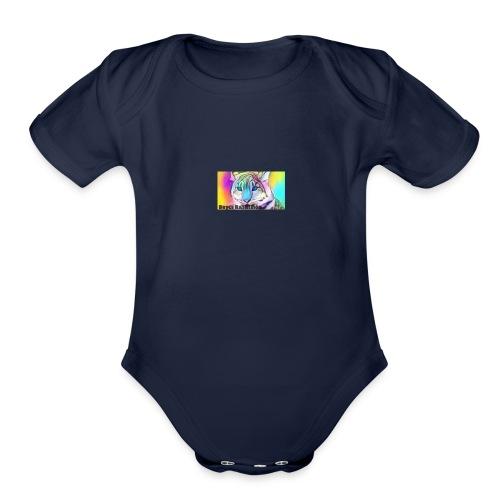 Rainbow Tiger Design Cases - Organic Short Sleeve Baby Bodysuit