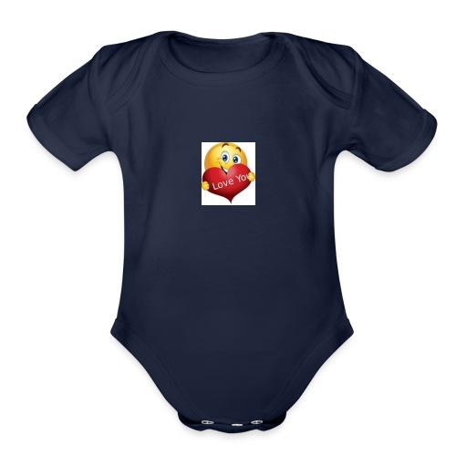 Lover. - Organic Short Sleeve Baby Bodysuit