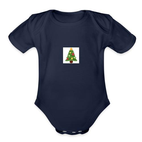 MoreWithDede christmas merch - Organic Short Sleeve Baby Bodysuit