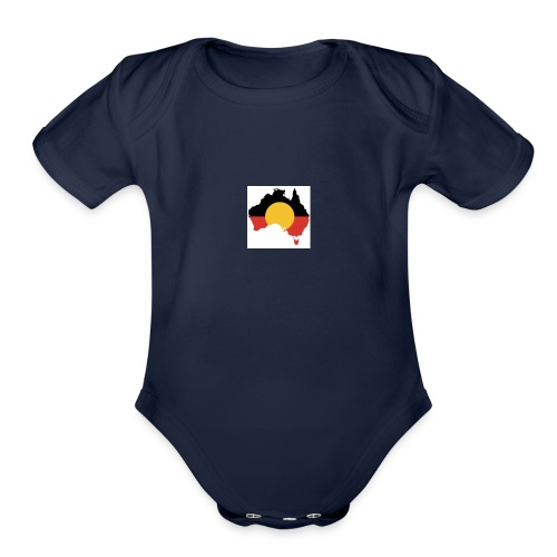 Aboriginal Culture - Organic Short Sleeve Baby Bodysuit
