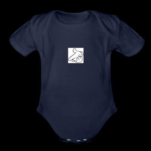 mickey mouse - Organic Short Sleeve Baby Bodysuit