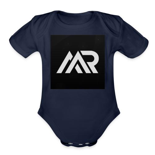 mr.miner logo - Organic Short Sleeve Baby Bodysuit