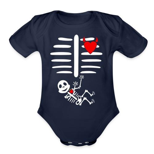 Halloween Pregnancy - Organic Short Sleeve Baby Bodysuit
