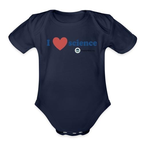iheartscience - Organic Short Sleeve Baby Bodysuit