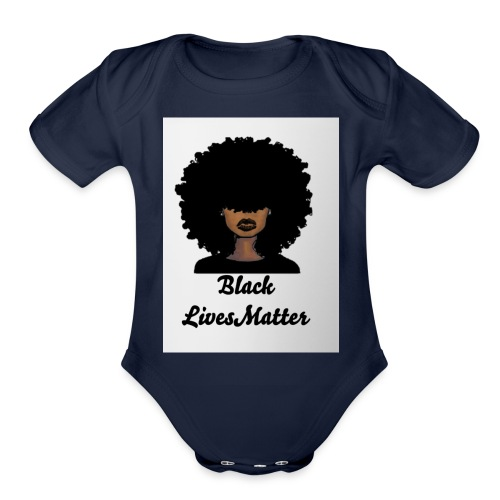Black lives matter - Organic Short Sleeve Baby Bodysuit