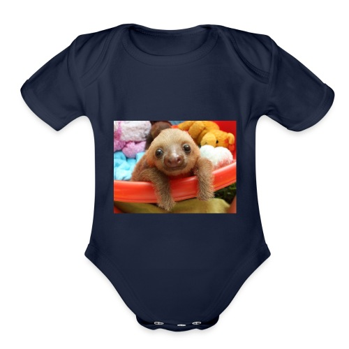 Baby Sloth Products! - Organic Short Sleeve Baby Bodysuit