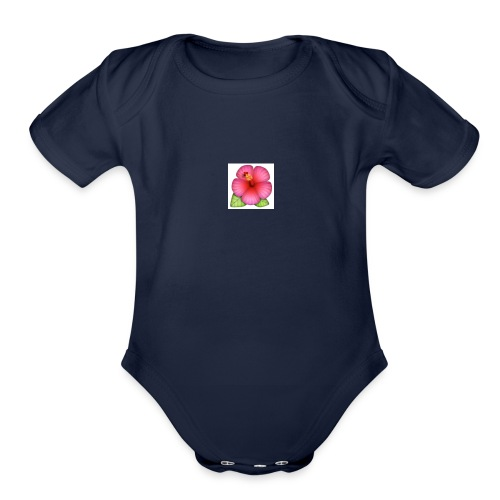 Flowers - Organic Short Sleeve Baby Bodysuit