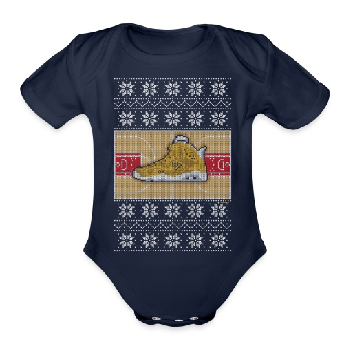 Retro6Sweater - Organic Short Sleeve Baby Bodysuit