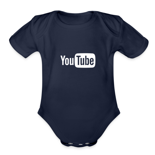 YouTube logo - Organic Short Sleeve Baby Bodysuit