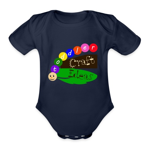 Toddler Craft Ideas Kids T Shirt - Organic Short Sleeve Baby Bodysuit