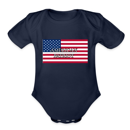 American Patriot - Organic Short Sleeve Baby Bodysuit