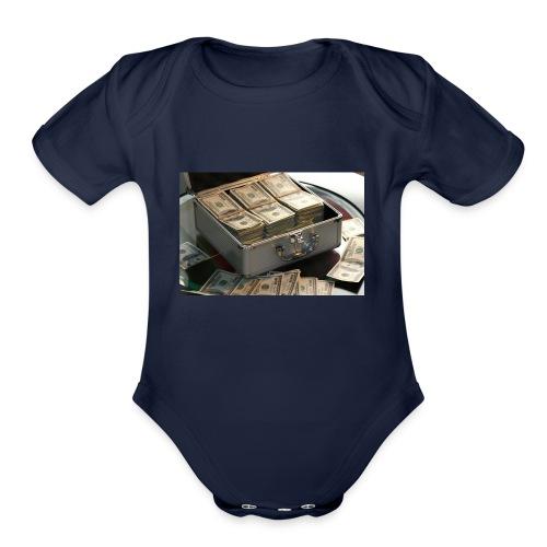 SaFe💵 - Organic Short Sleeve Baby Bodysuit