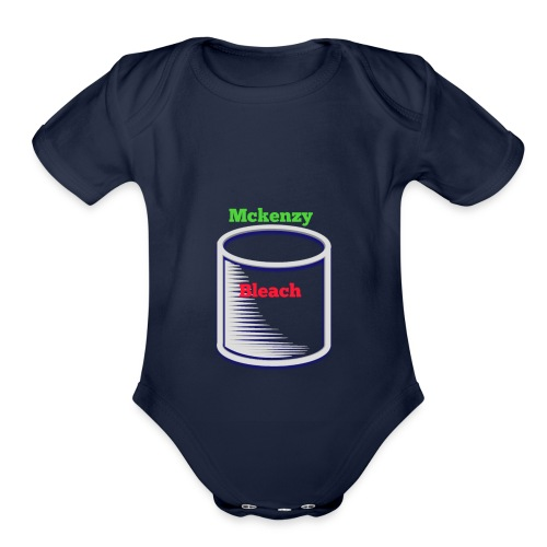 Dare bear bleach merch - Organic Short Sleeve Baby Bodysuit