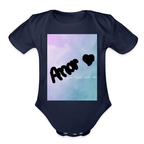 amor - Organic Short Sleeve Baby Bodysuit