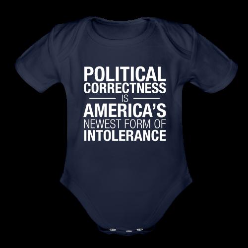 Political Correctness Sucks - Organic Short Sleeve Baby Bodysuit