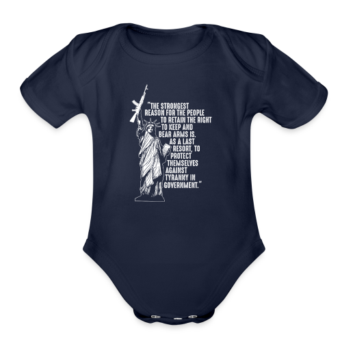 Right To Bear Arms - Organic Short Sleeve Baby Bodysuit