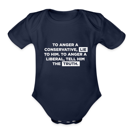 The Truth Hurts Liberals - Organic Short Sleeve Baby Bodysuit