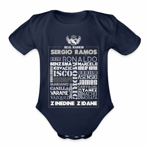 Real Madrid Design - Organic Short Sleeve Baby Bodysuit