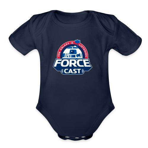 FORCE CAST LOGO - Organic Short Sleeve Baby Bodysuit