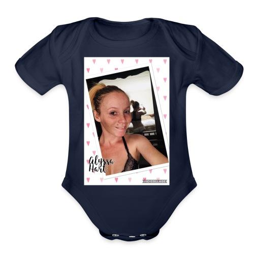 Alyssa Hart Selfie T-Shirt - Organic Short Sleeve Baby Bodysuit
