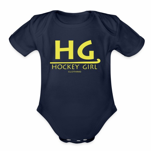 HG logo 3 THIS ONE FINAL - Organic Short Sleeve Baby Bodysuit