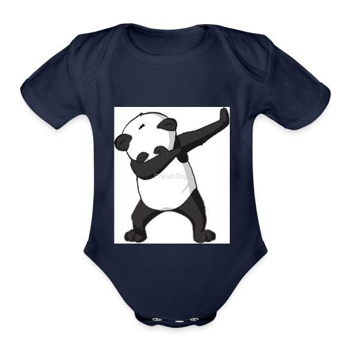 savage panda hoodie - Organic Short Sleeve Baby Bodysuit