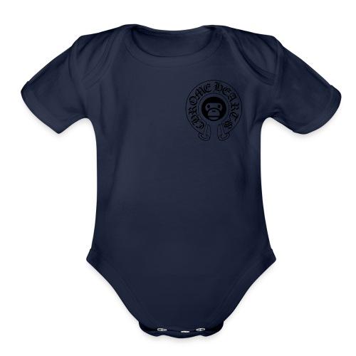 Bape Logo - Organic Short Sleeve Baby Bodysuit