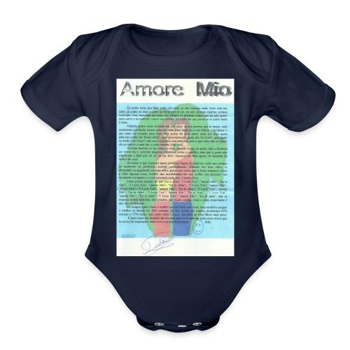 amor 003 - Organic Short Sleeve Baby Bodysuit