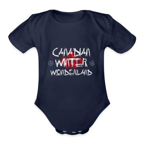Canadian Winter Wonderland - Organic Short Sleeve Baby Bodysuit