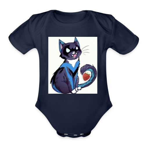 Nightwing is fruitcat - Organic Short Sleeve Baby Bodysuit