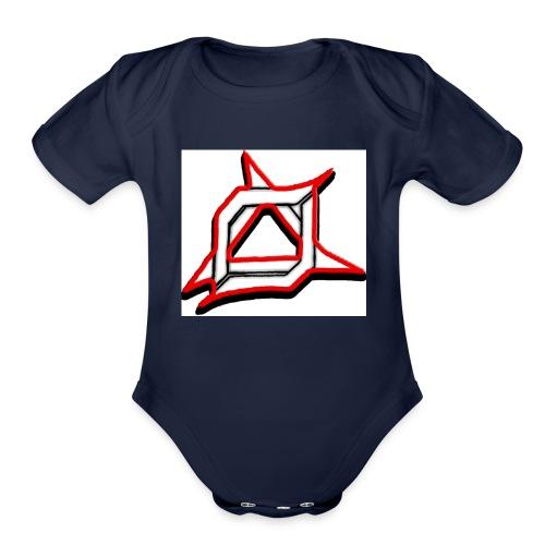 Oma Alliance Red - Organic Short Sleeve Baby Bodysuit