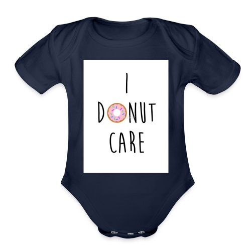 I Donut Care - Organic Short Sleeve Baby Bodysuit