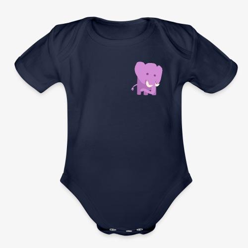 Elephant - Organic Short Sleeve Baby Bodysuit