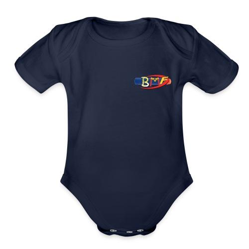 BlasterManFilms Logo - Organic Short Sleeve Baby Bodysuit