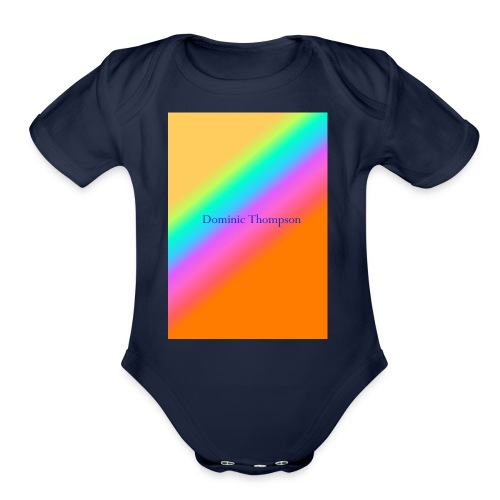 dom mearch - Organic Short Sleeve Baby Bodysuit