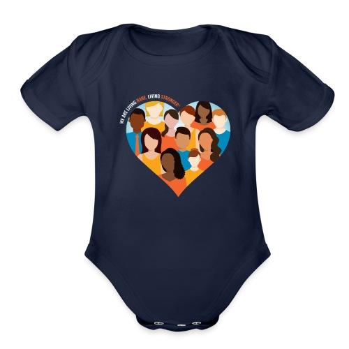 Living Rare, Living Stronger 2021 - Organic Short Sleeve Baby Bodysuit