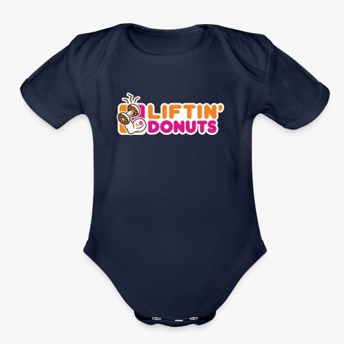 Liftin' Donuts - Organic Short Sleeve Baby Bodysuit