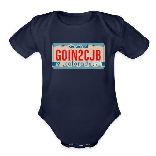 GOIN2CJB Colorado Plate - Organic Short Sleeve Baby Bodysuit