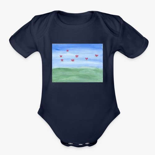 abstract nature - Organic Short Sleeve Baby Bodysuit